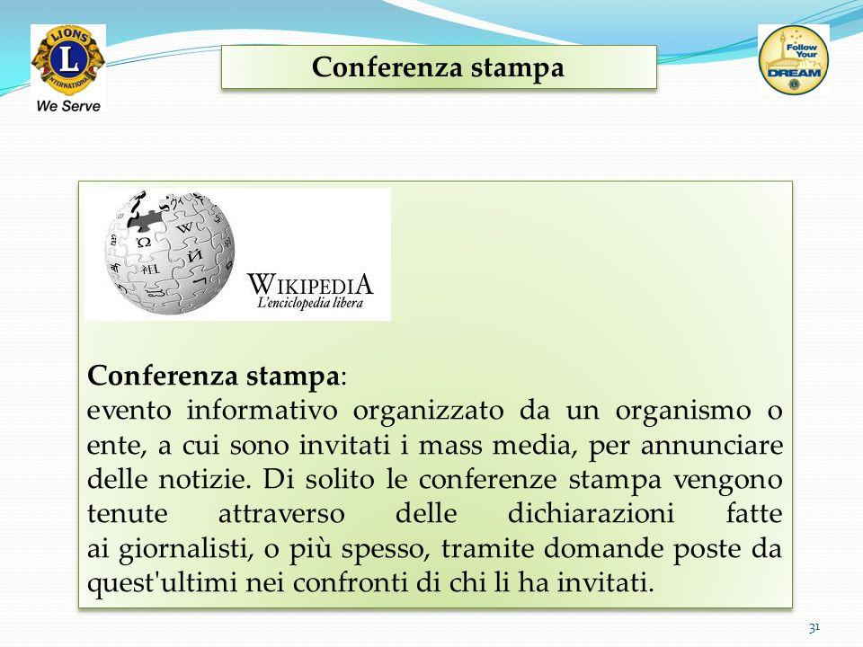 Conferenza stampa Conferenza stampa:
