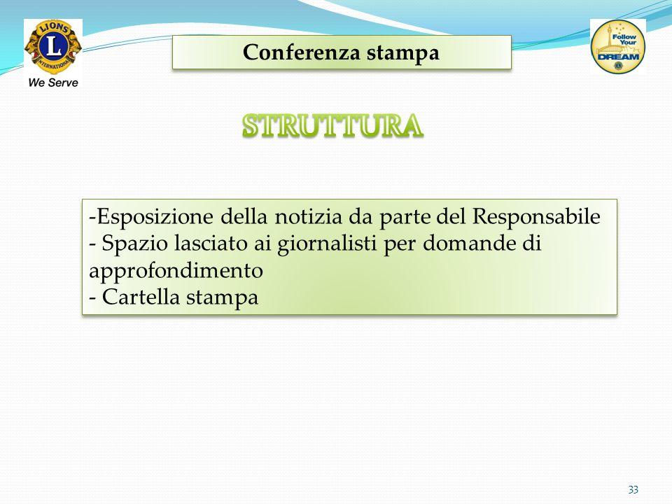 STRUTTURA Conferenza stampa