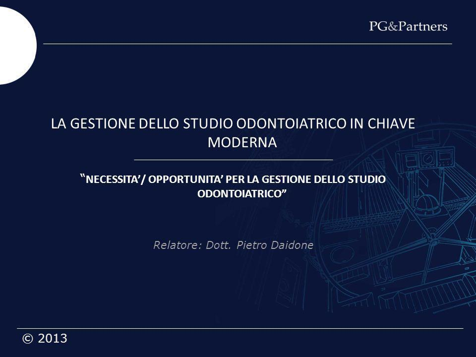 LA GESTIONE DELLO STUDIO ODONTOIATRICO IN CHIAVE MODERNA