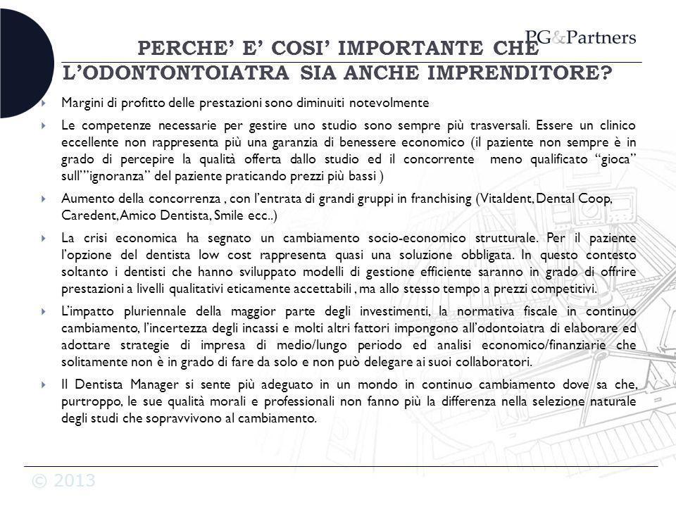 PERCHE' E' COSI' IMPORTANTE CHE L'ODONTONTOIATRA SIA ANCHE IMPRENDITORE