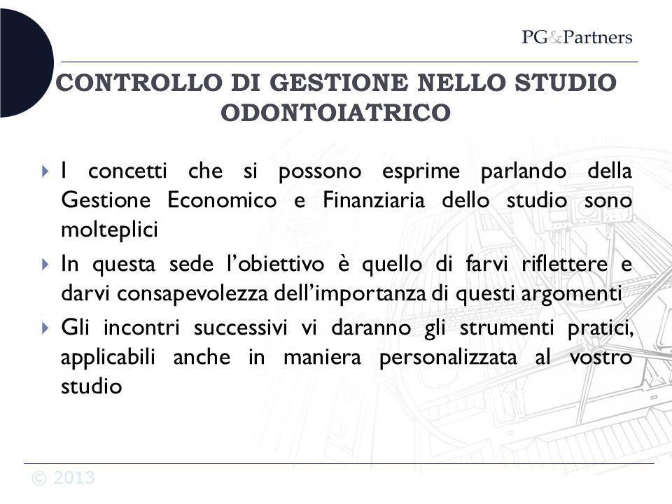 CONTROLLO DI GESTIONE NELLO STUDIO ODONTOIATRICO