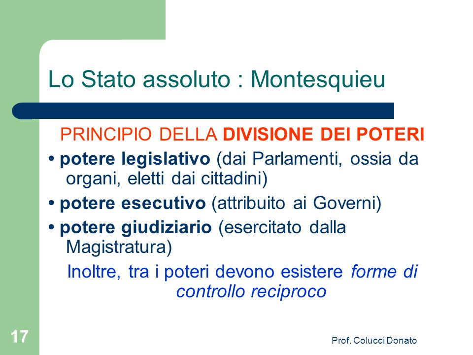 Lo Stato assoluto : Montesquieu