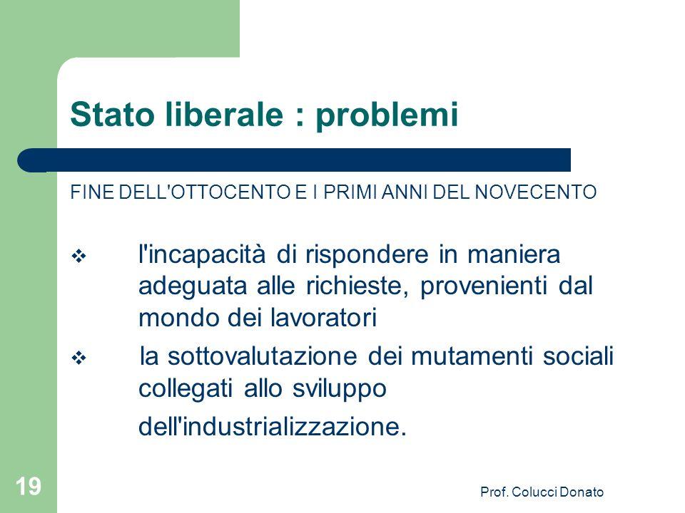Stato liberale : problemi