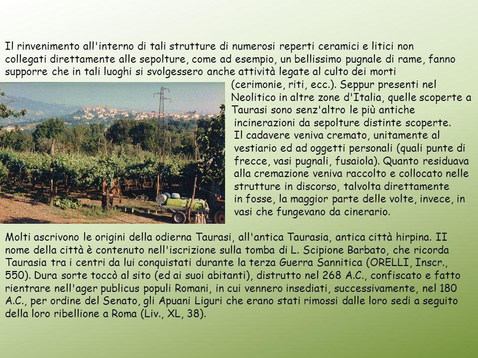 Il rinvenimento all interno di tali strutture di numerosi reperti ceramici e litici non
