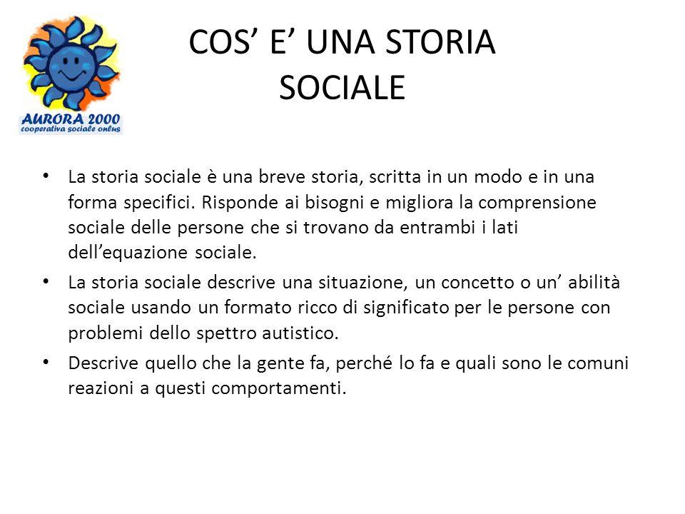 COS' E' UNA STORIA SOCIALE