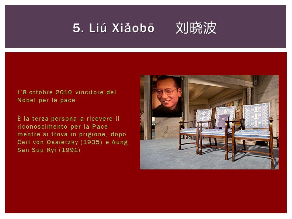 L'8 ottobre 2010 vincitore del Nobel per la pace