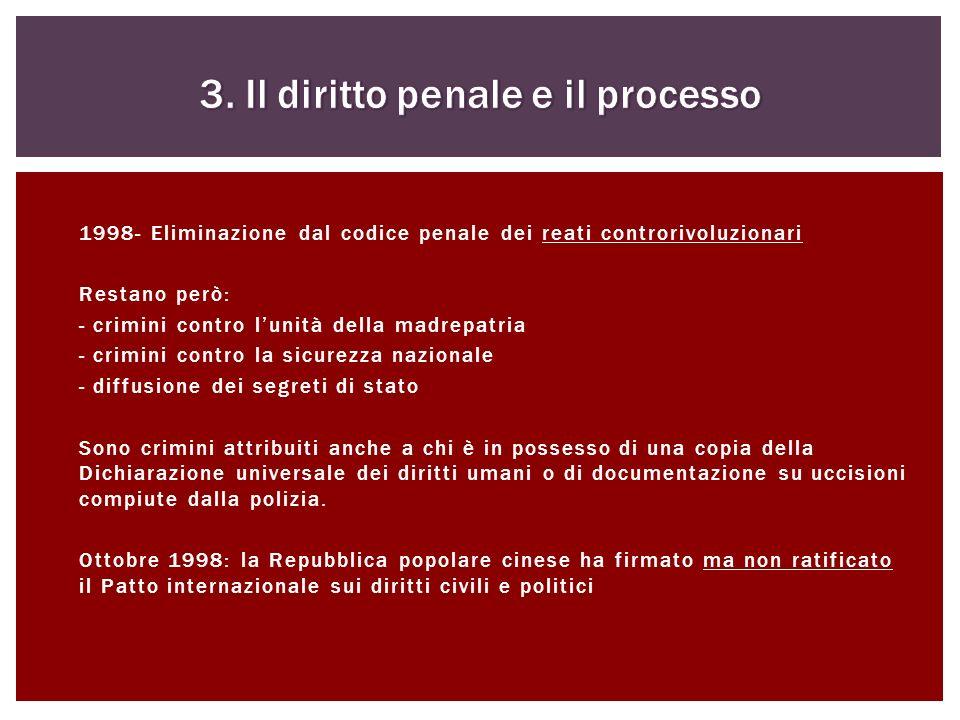 3. Il diritto penale e il processo