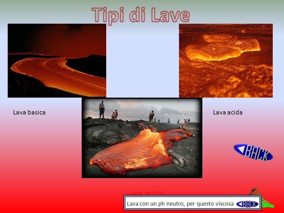 Tipi di Lave Lava basica Lava acida Lava neutra