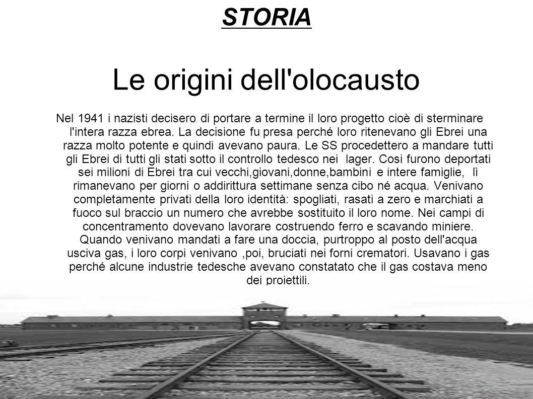 STORIA Le origini dell olocausto