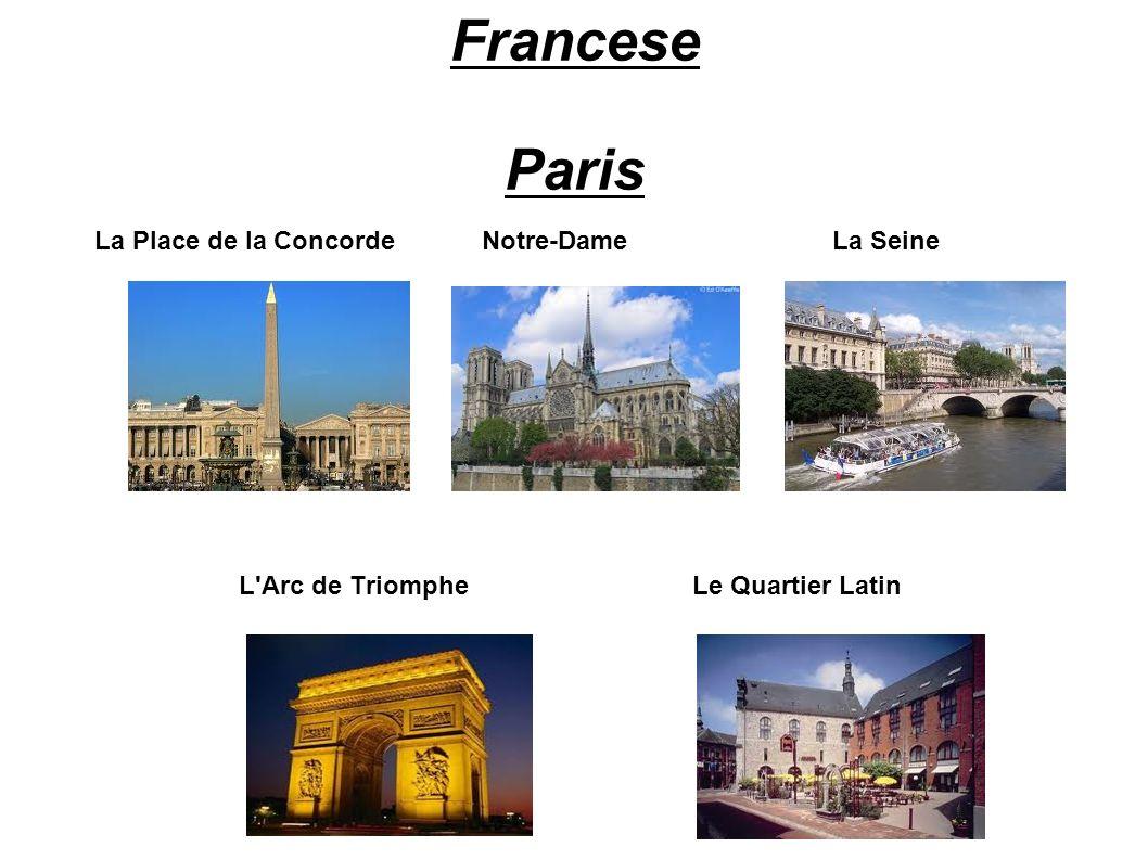 Francese Paris La Place de la Concorde Notre-Dame La Seine