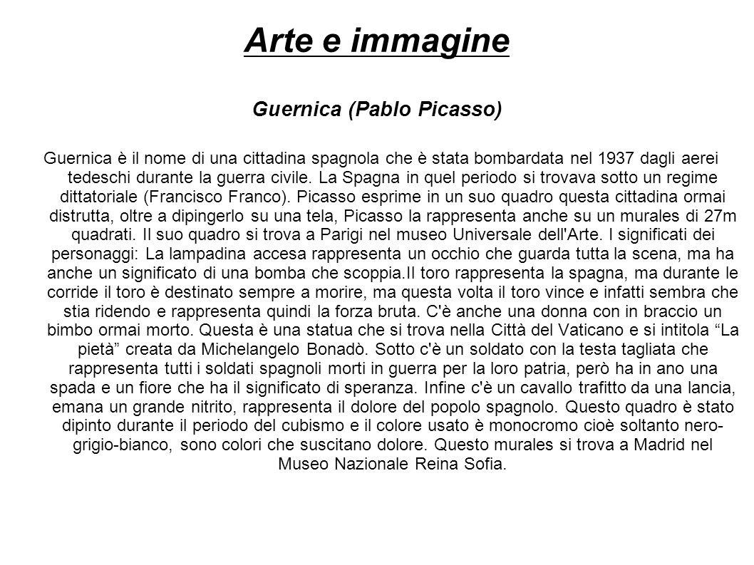 Arte e immagine Guernica (Pablo Picasso)