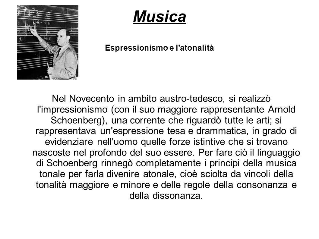 Musica Espressionismo e l atonalità