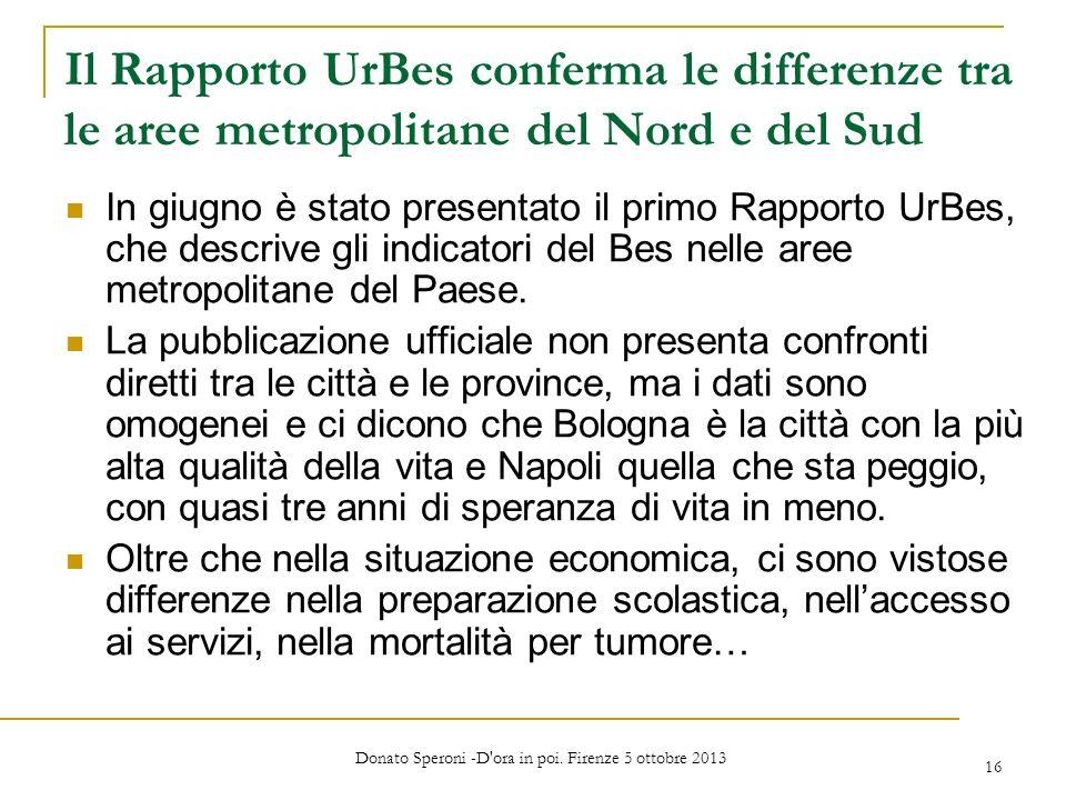 Donato Speroni -D ora in poi. Firenze 5 ottobre 2013