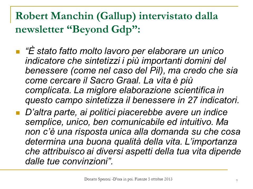 Robert Manchin (Gallup) intervistato dalla newsletter Beyond Gdp :