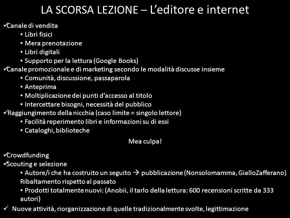 LA SCORSA LEZIONE – L'editore e internet