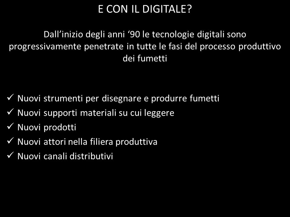 E CON IL DIGITALE
