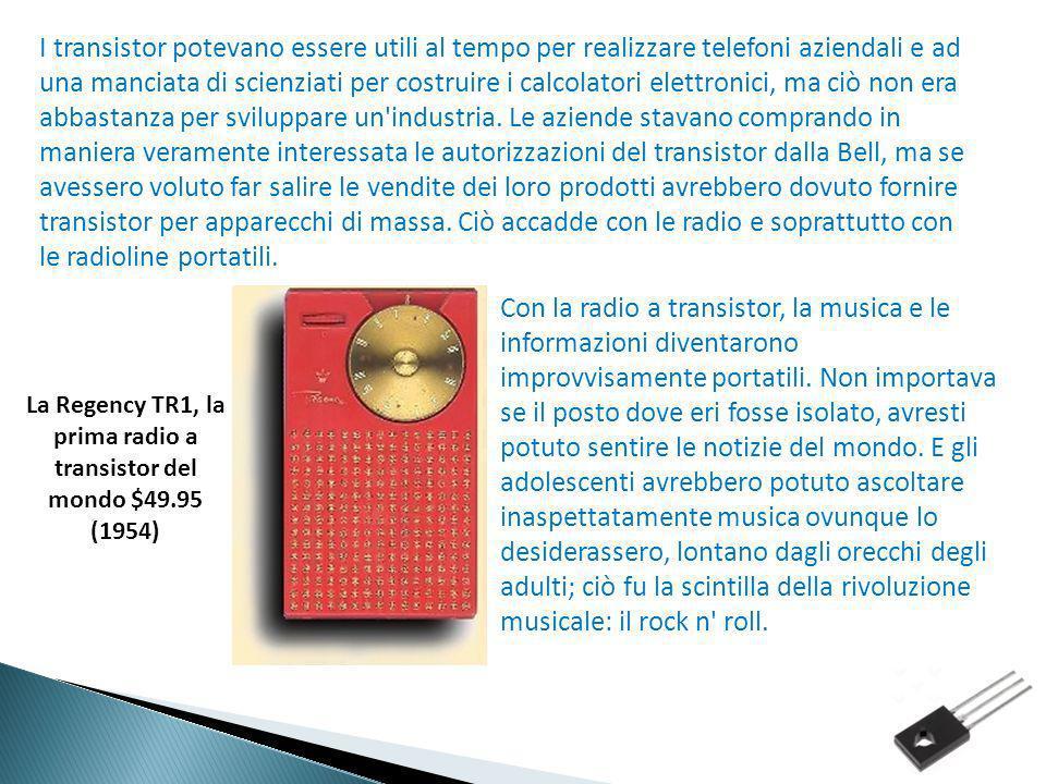 La Regency TR1, la prima radio a transistor del mondo $49.95