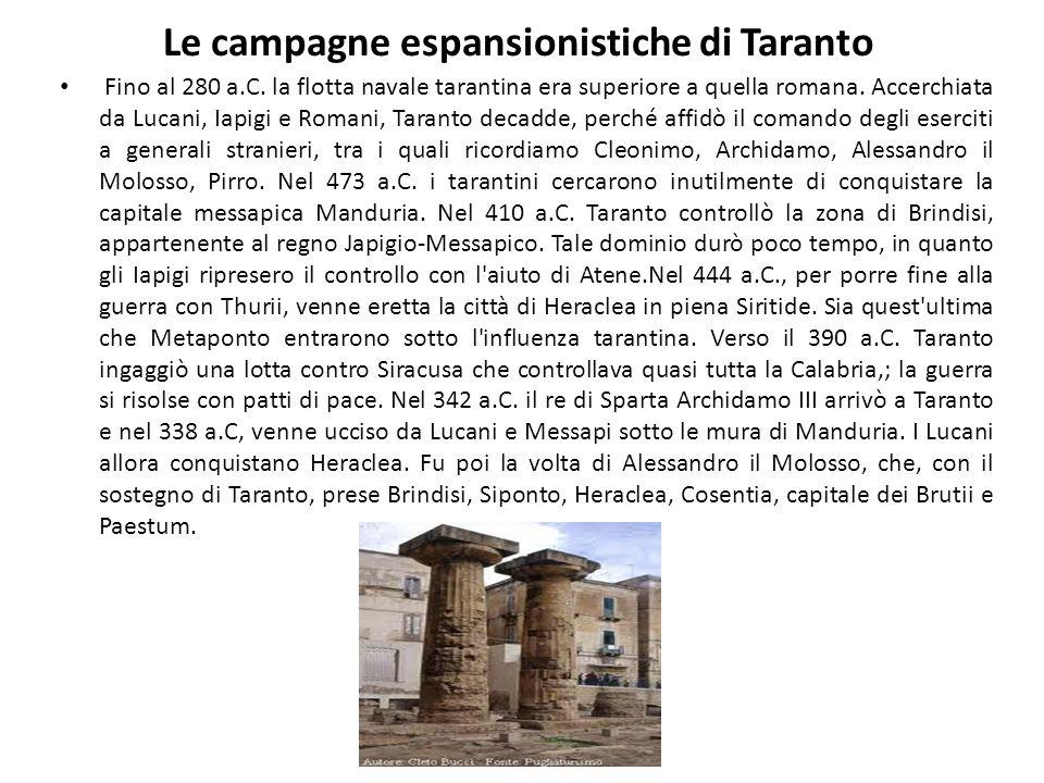 Le campagne espansionistiche di Taranto