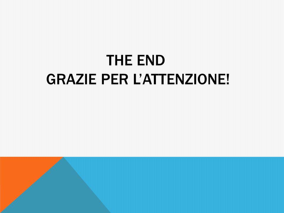The End grazie per l'attenzione!