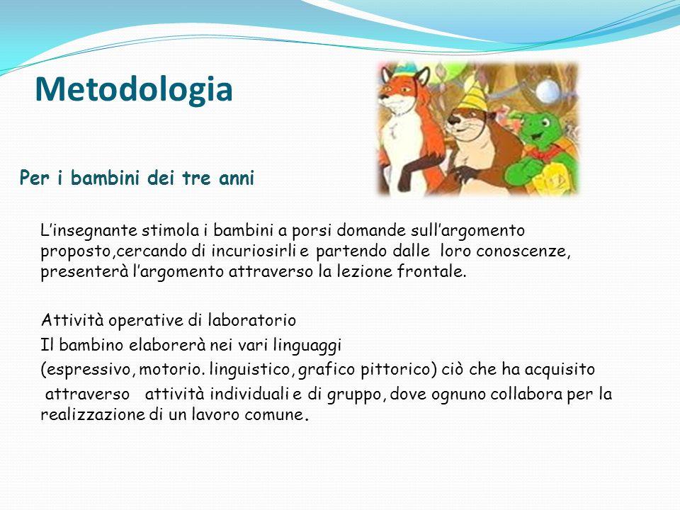Metodologia Per i bambini dei tre anni