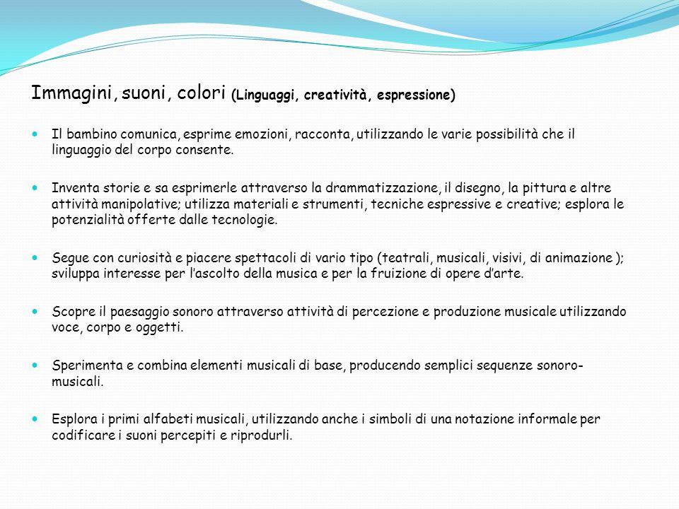 Immagini, suoni, colori (Linguaggi, creatività, espressione)