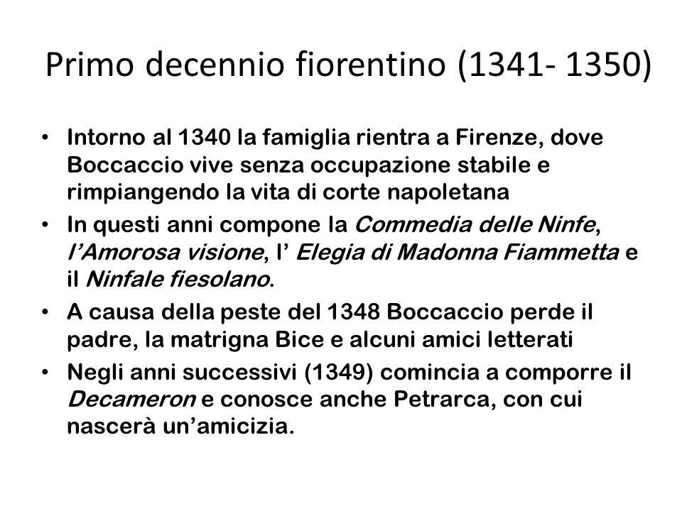 Primo decennio fiorentino (1341- 1350)