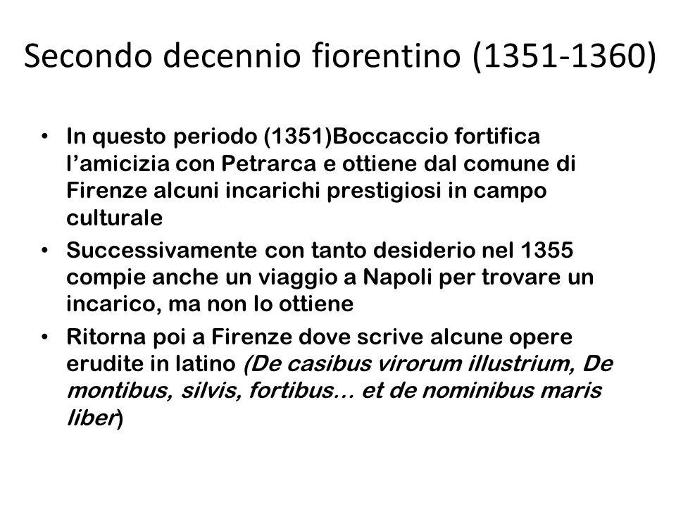 Secondo decennio fiorentino (1351-1360)