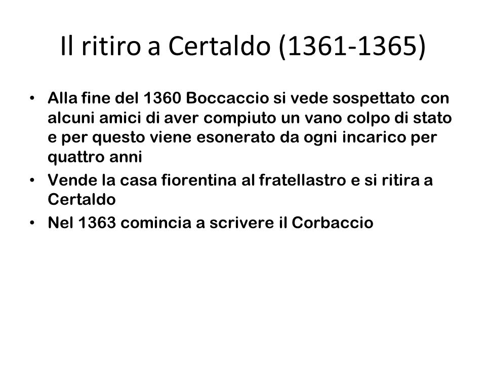 Il ritiro a Certaldo (1361-1365)