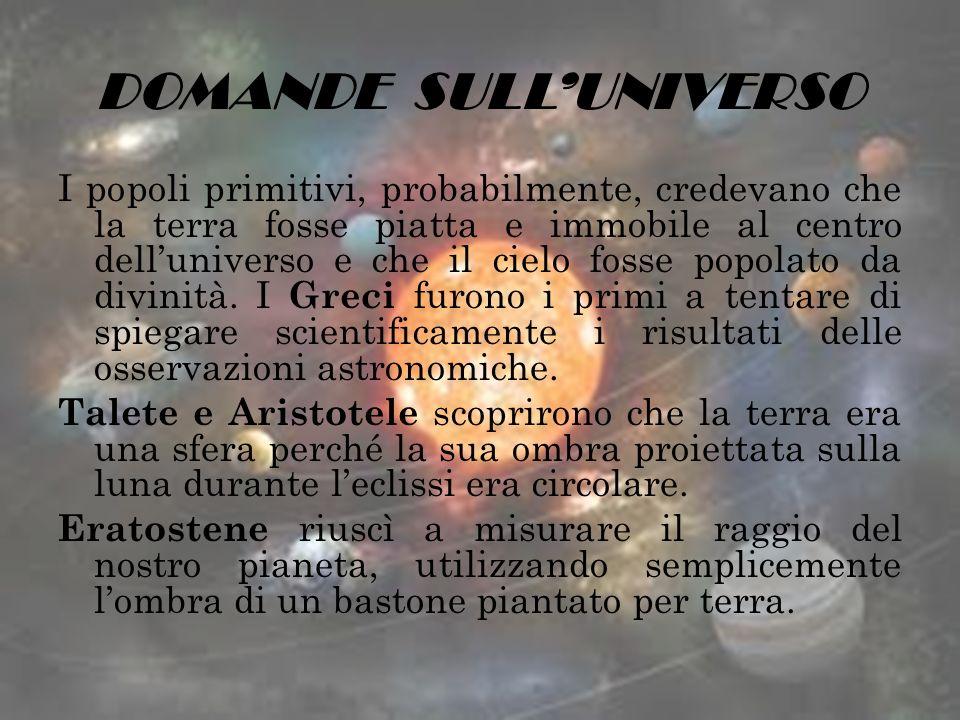 DOMANDE SULL'UNIVERSO