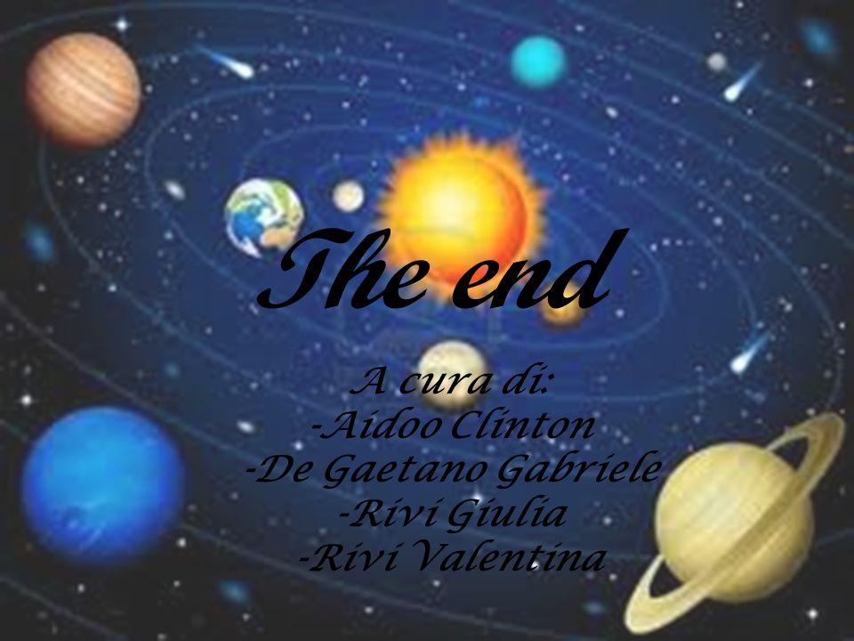 The end A cura di: -Aidoo Clinton -De Gaetano Gabriele -Rivi Giulia
