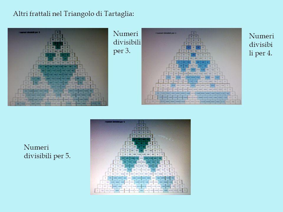 Altri frattali nel Triangolo di Tartaglia: