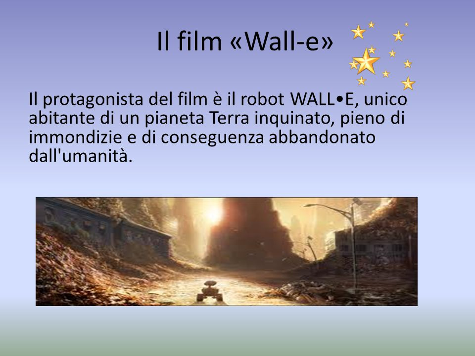Il film «Wall-e»