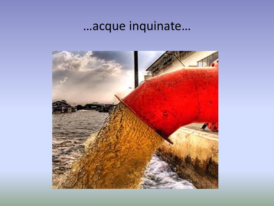 …acque inquinate…