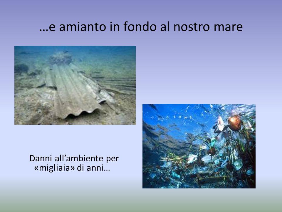 …e amianto in fondo al nostro mare