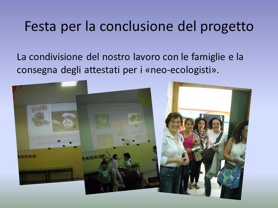 Festa per la conclusione del progetto