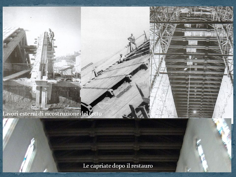 Lavori esterni di ricostruzione del tetto