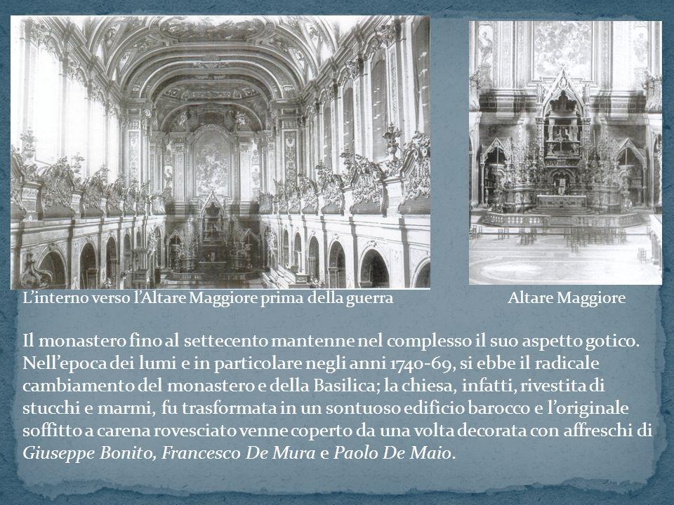 L'interno verso l'Altare Maggiore prima della guerra