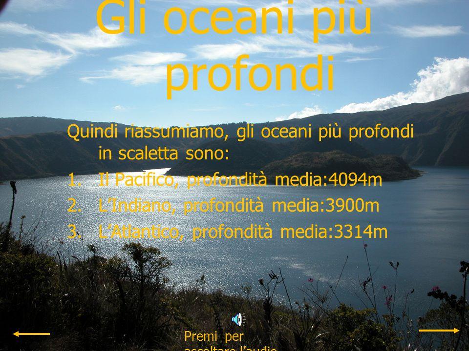 Gli oceani più profondi