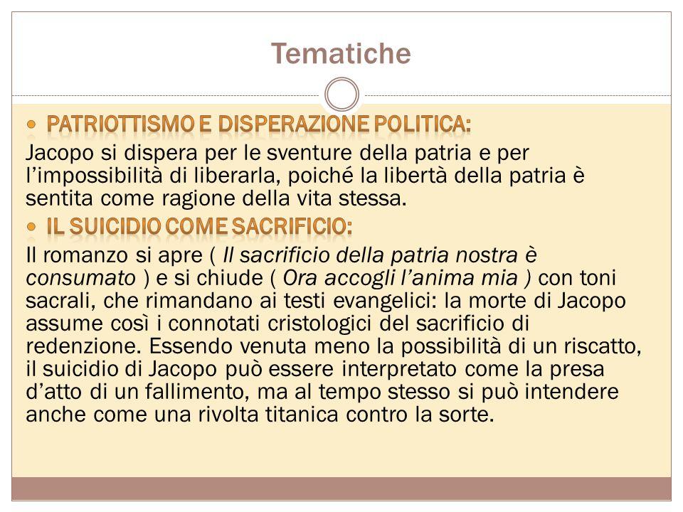 Tematiche Patriottismo e disperazione politica: