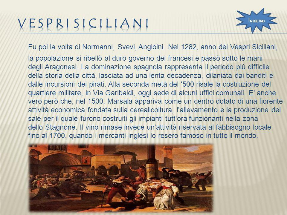 INDIETRO Vespri siciliani.