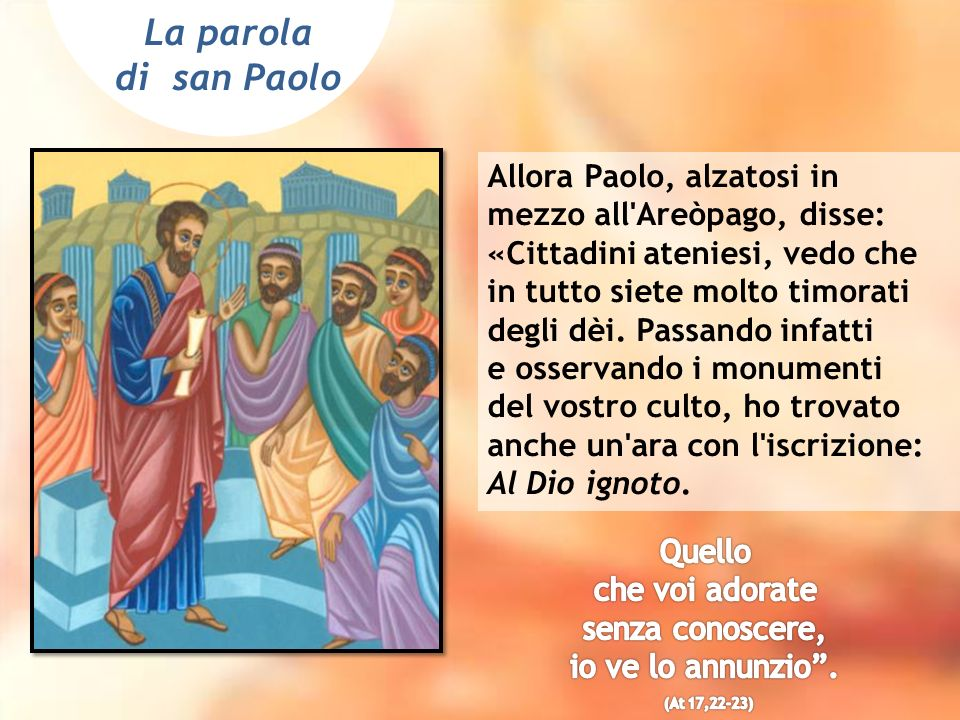 La parola di san Paolo.