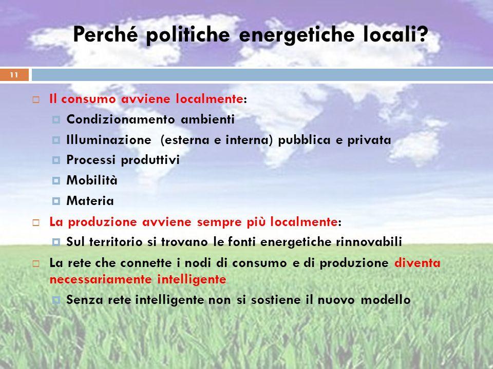 Perché politiche energetiche locali