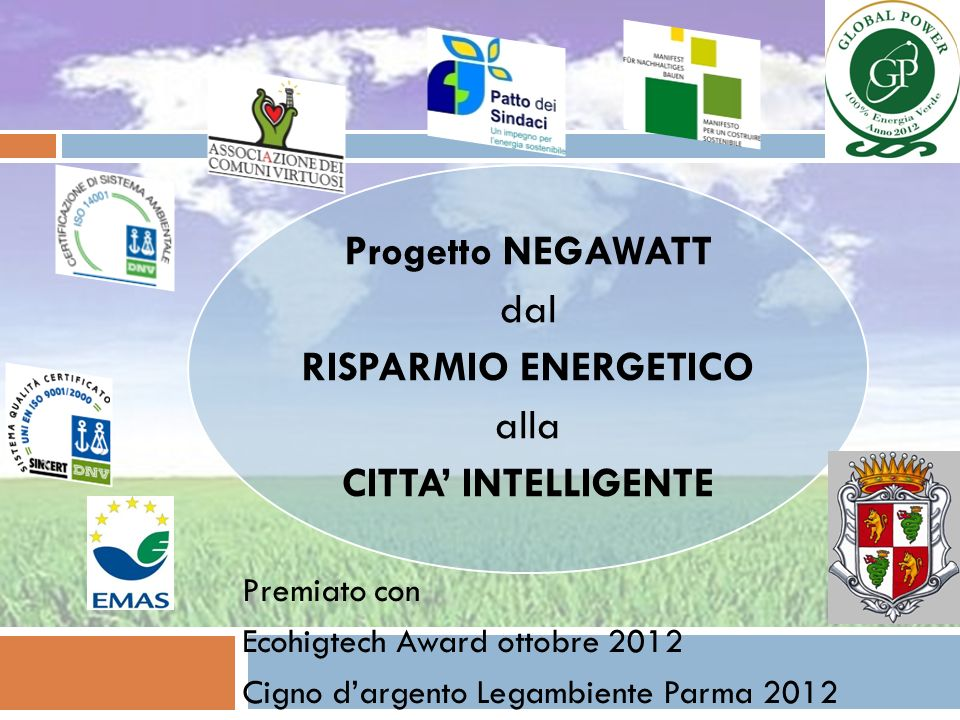 Progetto NEGAWATT RISPARMIO ENERGETICO CITTA' INTELLIGENTE