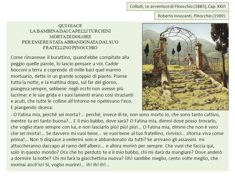 Collodi, Le avventure di Pinocchio (1883), Cap. XXIII