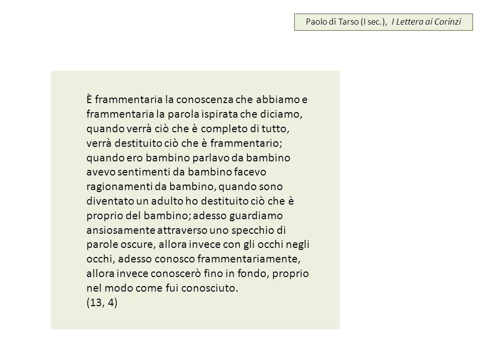 Paolo di Tarso (I sec.), I Lettera ai Corinzi