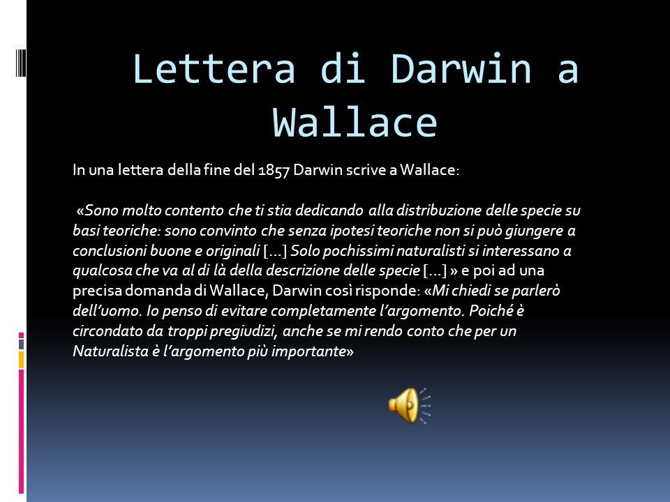 Lettera di Darwin a Wallace