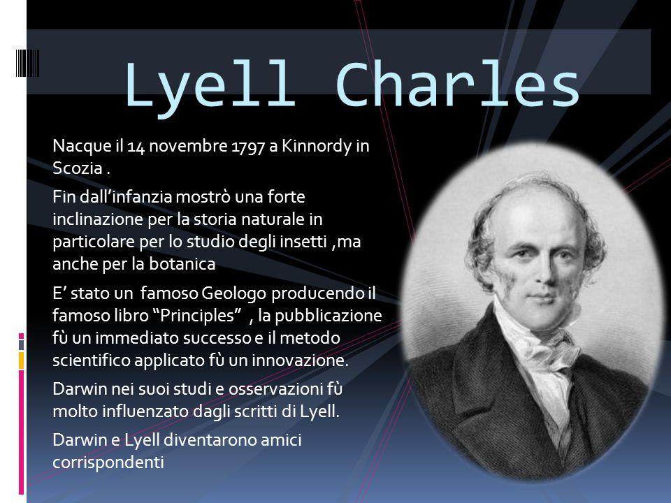 Lyell Charles Nacque il 14 novembre 1797 a Kinnordy in Scozia .