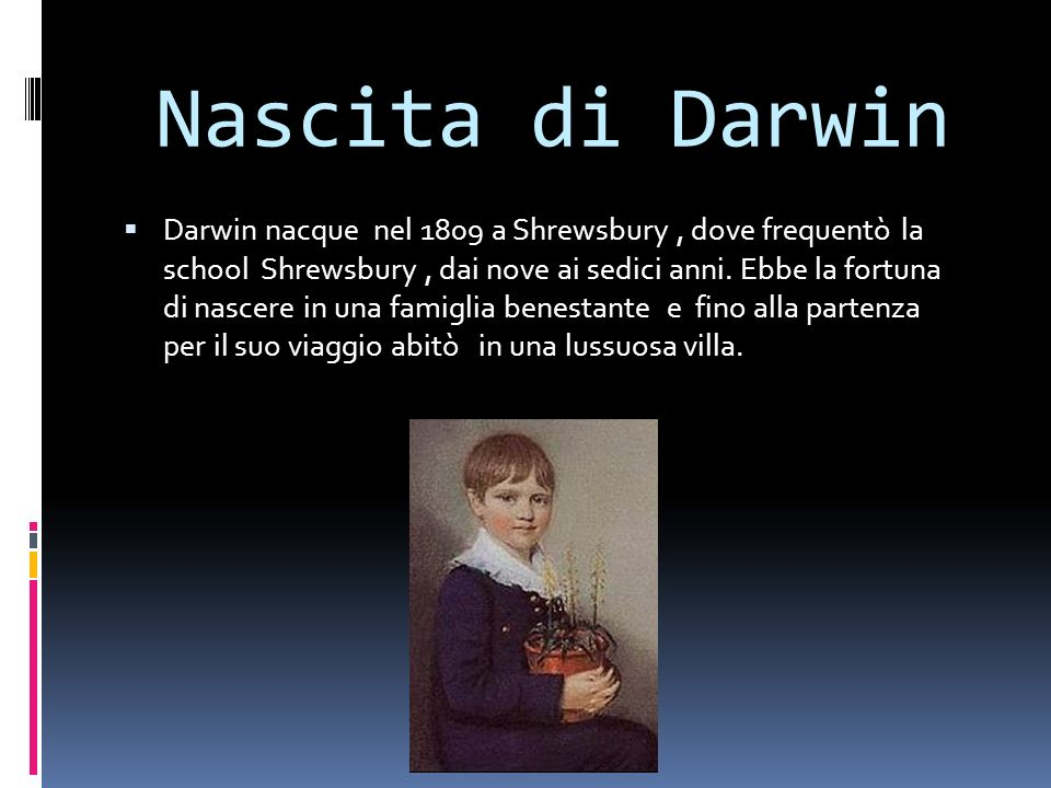 Nascita di Darwin