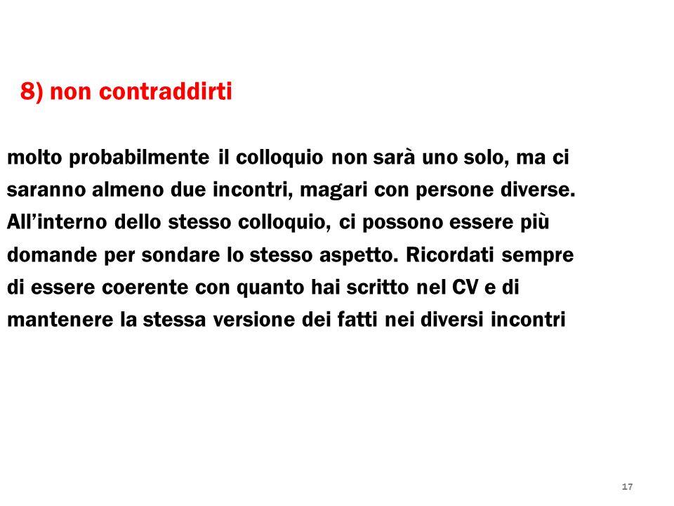 8) non contraddirti