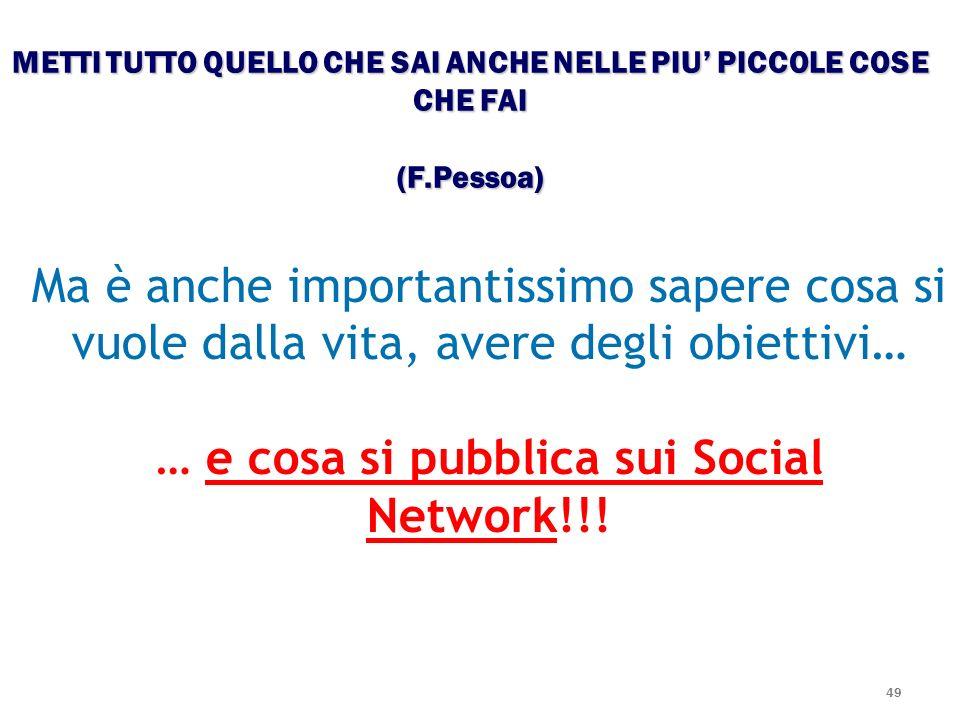 … e cosa si pubblica sui Social Network!!!